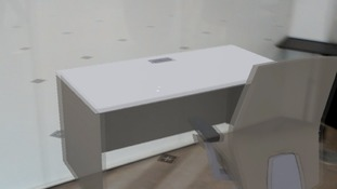 Desk and chair combinations could be tested before going to the shops.