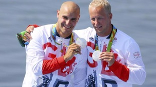 Liam Heath and Jon Schofield took silver in the kayaking