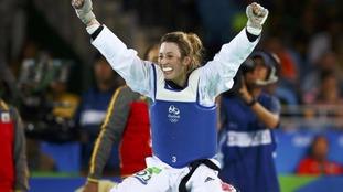 Jade Jones successfully defended her Olympic taekwondo title