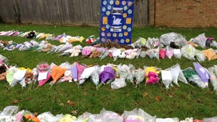 Floral tributes to the family