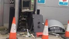 Cash machine was blown open