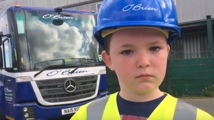 8-year-old boy in remission from leukemia has bin man wish granted