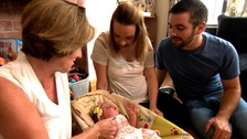 Kate, Adrian, Kathy and baby Molly