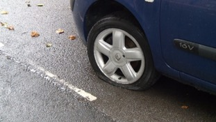 Vandals slash car tyres on residential Somerset street