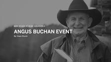 Angus Buchan had been due to speak in the Scottish Borders.