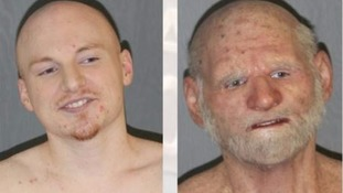 Fugitive almost fools police with elderly man disguise