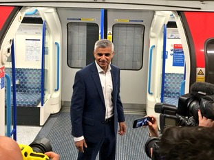 Sadiq Khan was ready to board the first Night Tube