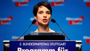 German anti-immigrant party leader says citizens should be able to arm themselves following terror attacks