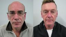 Jailed: Simon Higginson and Lee Wilis