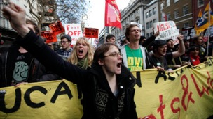 Thousands of people from across the Midlands are expected to protest in London over government austerity measures