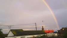 A rainbow over Hemsby in Norfolk