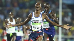Mo Farah wins 'double double' with 5,000m gold medal