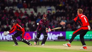 Josh Cobb was the hero for Northants.