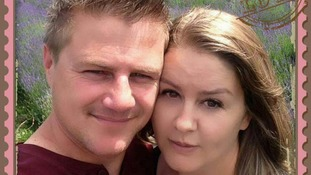 Rudy Bruynius, pictured with his wife Lisinda, has been named as the man who died when severe weather struck in Cornwall