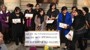 Women take part in the Vigil in Birmingham on Thursday