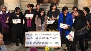 Women take part in the Vigil in Birmingham on Thursday