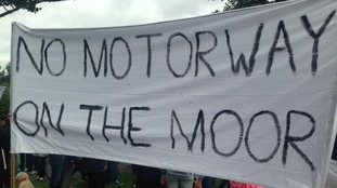 Protest taking place near Gosforth on the Town Moor