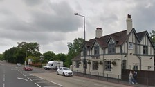 The smash happened on the Birmingham Road, Walsall, not far from the Bell Inn pub