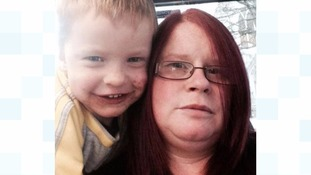 Julie Walker and her son Lucas