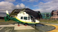 Library photo of the Great North Air Ambulance