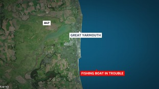 The boat got into trouble off Great Yarmouth
