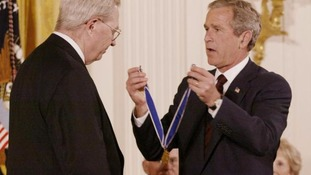 Donald Henderson is presented with the Medal of Freedom