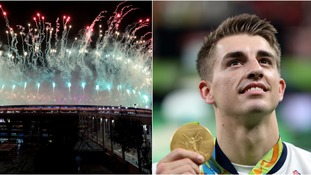 Max Whitlock stayed for the closing ceremony.