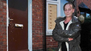 Hero mum smashes into burning home to rescue neighbour