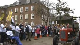 Adult social care cuts protest