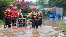 Teams combat flash flooding in Bootle and Millom