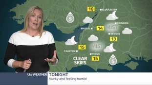 Tonight will see any clear spells will be quickly filled in by cloud with the night looking quite humid.