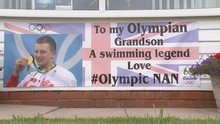 #OlympicNan welcomes home her gold winning grandson