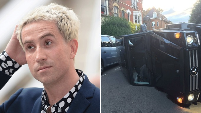 Nick Grimshaw Flips Car to Avoid a Cat