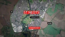 Woman found dead and man injured at St Neots home