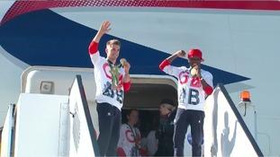 Region's athletes return home on #VictoRIOus flight