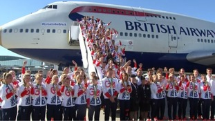 Team GB land back in the UK