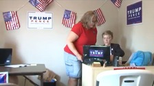 Weston and Laurel Imer in the campaign office.