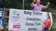 Amy's welcome home banner has been stolen.