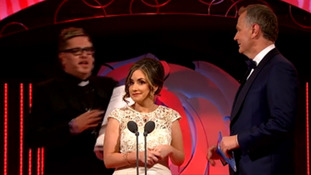 Protestor storms stage at Rose of Tralee