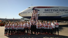Team GB arrive home after Rio heroics