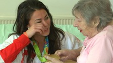 Rio gold winner Sam Quek's emotional reunion with her nan