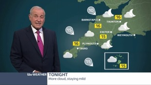A cloudy night which means a mild temperatures