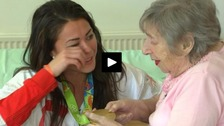 Team GB gold medallist's emotional reunion with her nan