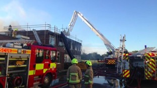 12 fire engines attended the scene