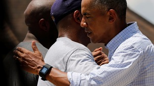 Obama promised residents that they were not alone.