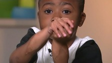 Child celebrates anniversary of double-hand transplant