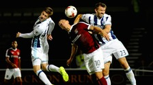 West Brom suffered a giant killing at the hands of League One side Northampton.