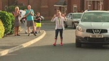 Amy Tinkler returns to Olympic hero's welcome