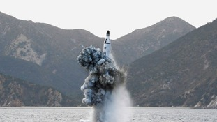 North Korea 'fires missile from submarine'