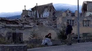 The town of Amatrice where the mayor said 'half is gone'.
